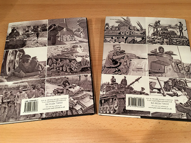 Panzers in the Sand - back covers