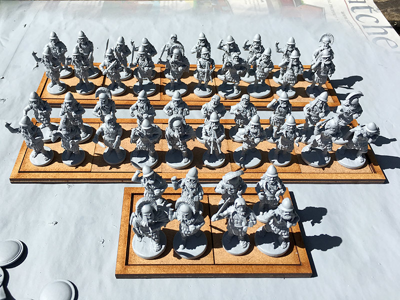 Spartan Hoplites having been undercoated