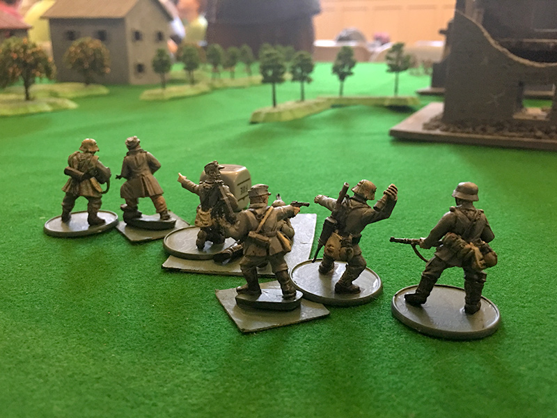 The Germans advance towards the village