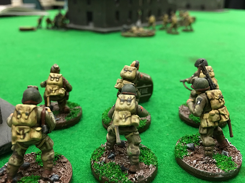 2nd Squad of the 82nd Airborne watch the action