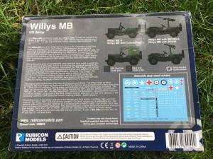Rubicon 1/56 1/4 Ton 4x4 Utility Truck (Willys Jeep) Box
