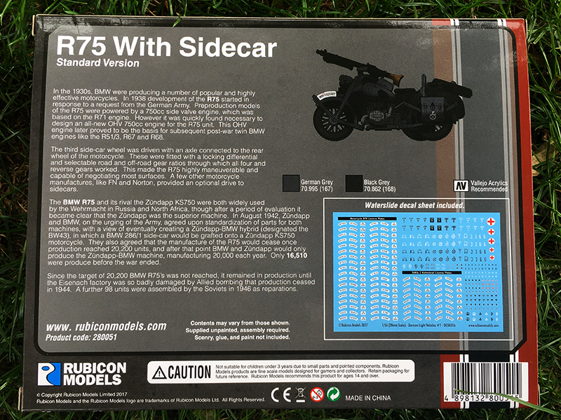 Rubicon German Motorcycle R75 with Sidecar Box