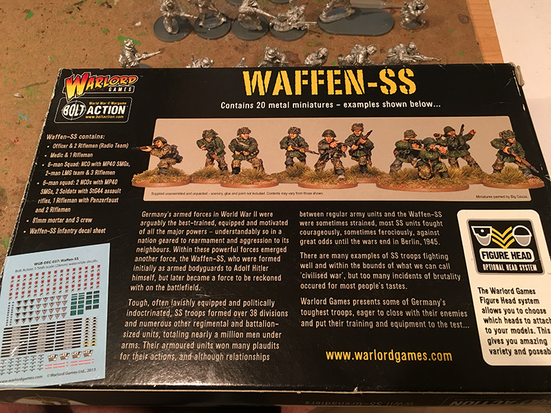 Warlord Games Waffen SS Box Rear