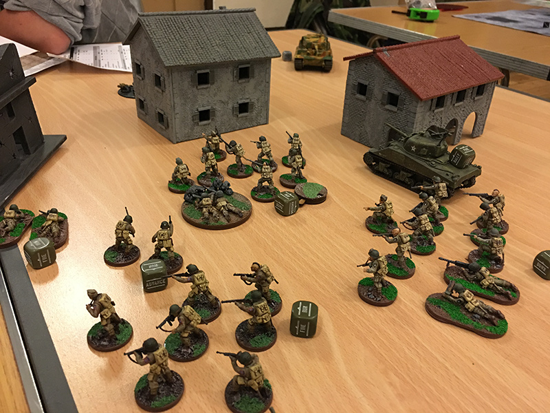 The American right flank take the centre