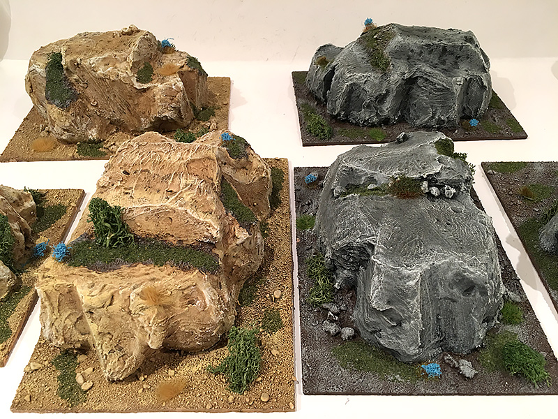 Completed Hills, grey and sand versions