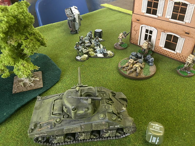 The Sherman takes out the Hanomag