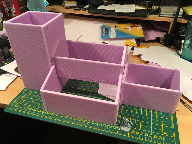 The basic shell made from foam sheets