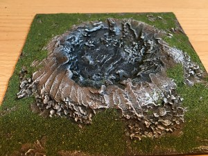 Bomb Crater made from heating insulation