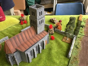 Hits galore on the German left flank