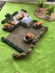 Devastation on the German left flank