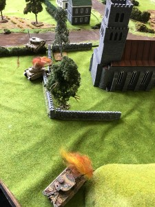 View from the German right flank