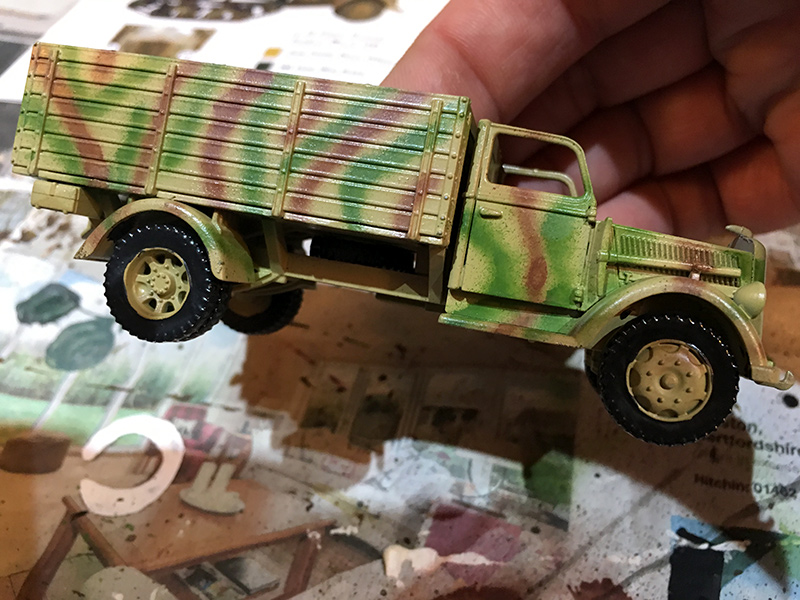 Base Coat & Camo Added