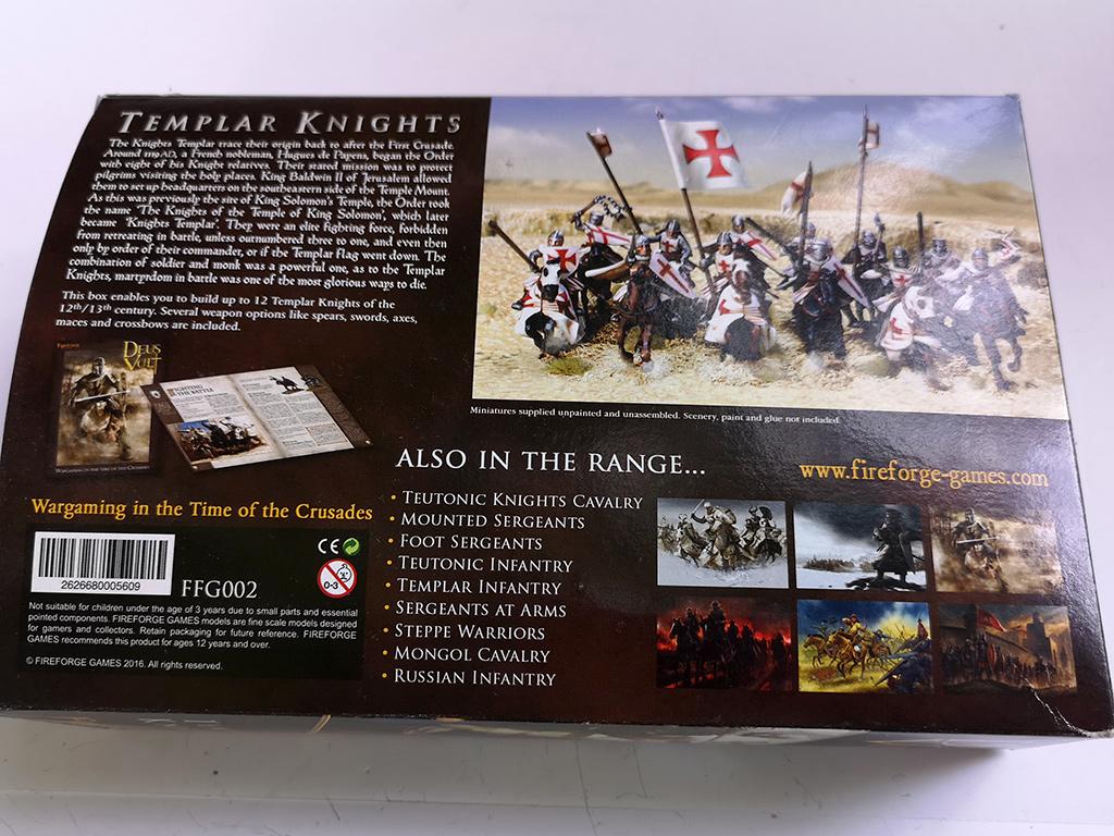 Fireforge Templar Knights Box Rear