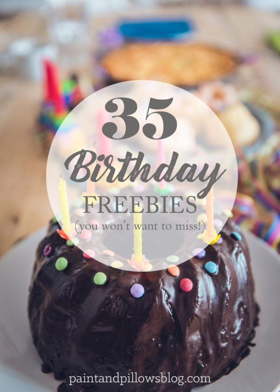 35 Birthday Freebies