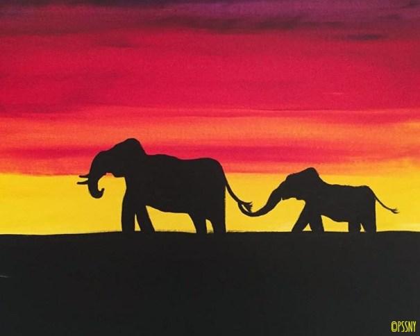 Mama Elephant's Shadow