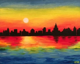 Monet's Manhattan Sunrise