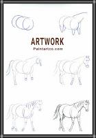 رسومات اطفال سهلة بالخطوات رسم حصان