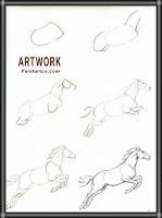رسومات فنية سهلة للاطفال حصان