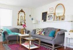 ترتيب المنزل البسيط غرفة المعيشة