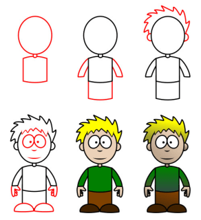 رسم اطفال صغار رسم أطفال كرتون