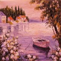لوحات فنية زيتية بسيطة من اجمل خلفيات شاشه غاية في الجمال