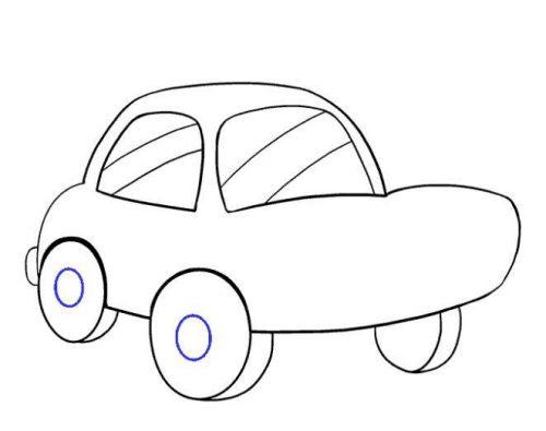 رسم سيارة بالرصاص للمبتدئين