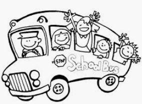رسمة باص المدرسة للتلوين