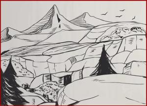 تعليم الرسم بالرصاص بالخطوات, رسم المنظور ثلاثي الأبعاد
