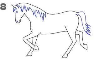 رسم حصان سهل بالرصاص للمبتدئين والاطفال