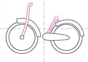 رسم دراجة هوائية للأطفال