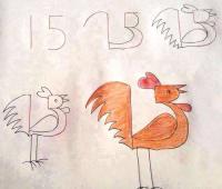 رسم الديك بطريقة سهلة للأطفال