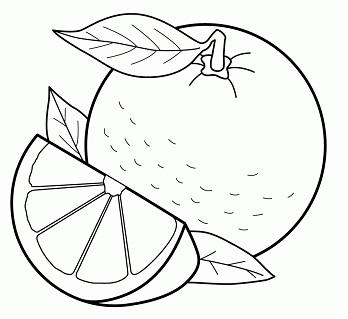 رسم فواكه كيوت برتقال للتلوين