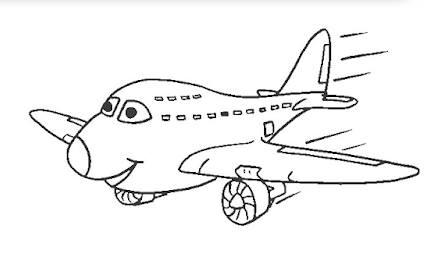 رسومات أطفال كيوت سهلة تلوين طائرة