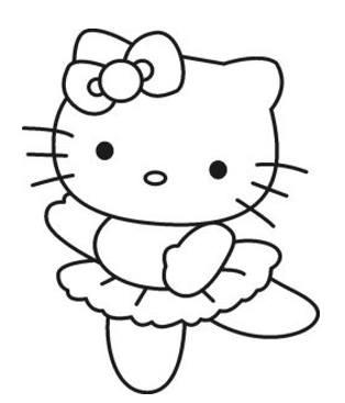 رسمة كرتونية جميلةوبسيطة للتلوين للأطفال
