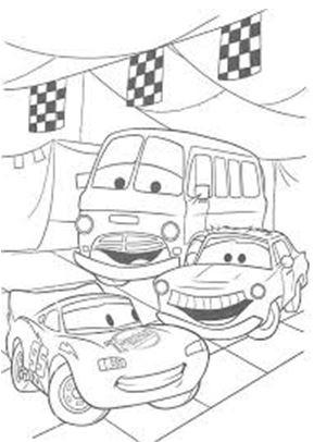 صور رسومات اطفال سهلة سيارات كرتون للتلوين