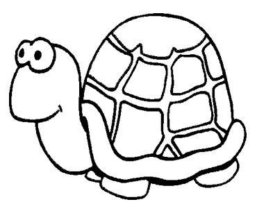 رسومات للتلوين للاطفال للطباعة سلحفاة