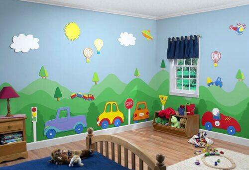 رسومات حوائط غرف أطفال 2020 صور كرتونية