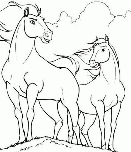 صور تلوين حيوانات برية وأليفة حصان جميل
