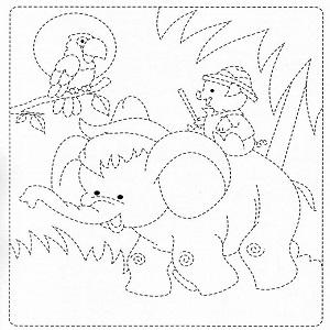تلوين حيوانات للاطفال pdf رسمة فيل جميل