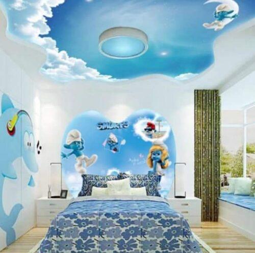 رسومات غرف اطفال بسيطة جميلة جدا وصور تصميمات رائعة من المشاهد الكرتونية