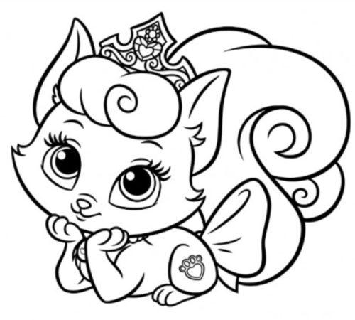 رسمة قطة كيوت جميلة للتلوين