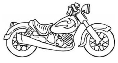 رسومات كيوت للتلوين موتوسيكل غير ملون