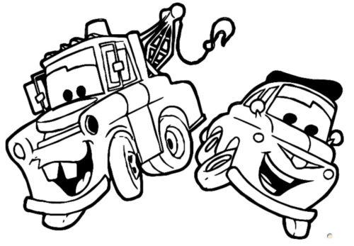 رسومات كرتونية للتلوين للاطفال سيارات