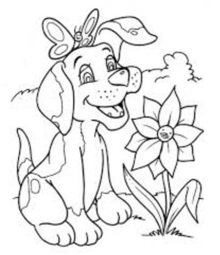 رسومات اطفال بسيطة رسمة كلب كيوت للتلوين للأطفال الصغار