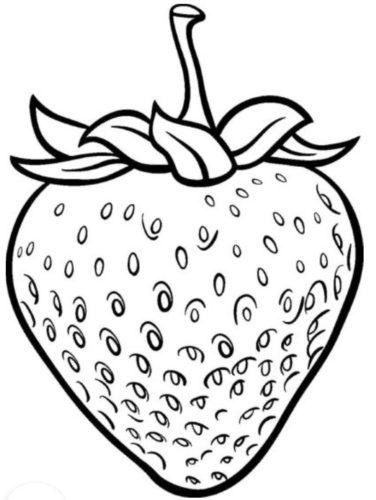 تلوين فاكهة بسطة وسهلة فراولة