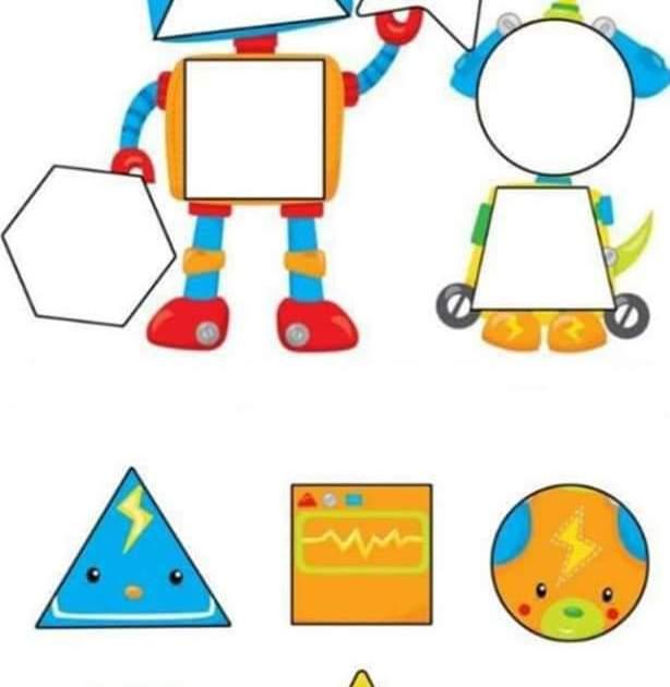 اوراق عمل الاشكال الهندسية للاطفال