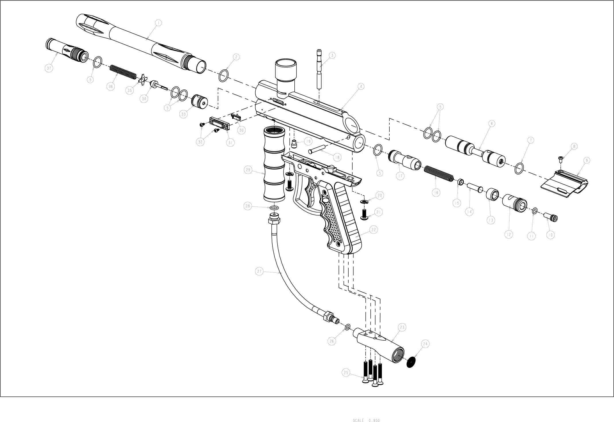 Viewloader Prodigy E Grip Gun Diagram
