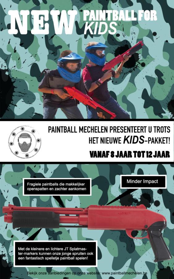 New flyer Paintball for kids by Paintball Mechelen