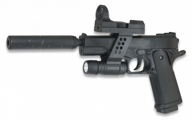 Pistola airsoft Galaxy G.053a Muelles
