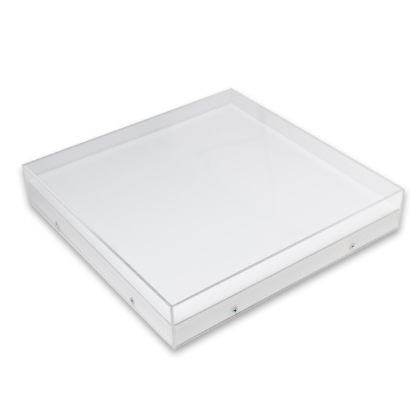 Hanging Acrylic Box White 4 Ply Backing
